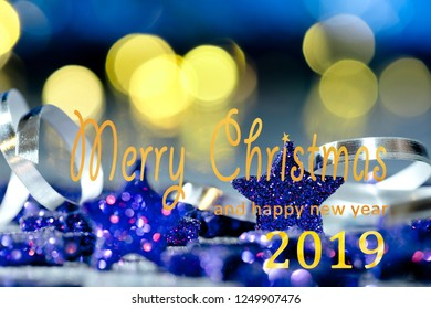 Christmas background with text Merry Christmas and happy new year