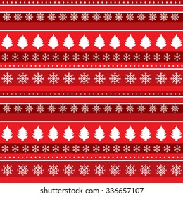 Christmas background with trees and snowflakes