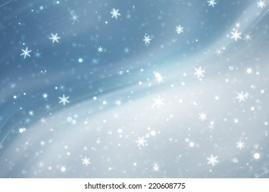 christmas background. the winter background, falling snowflakes.