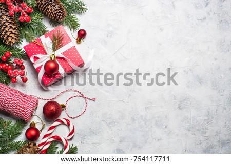 Christmas Background Xmas Greeting Card Red Stock Photo Edit Now