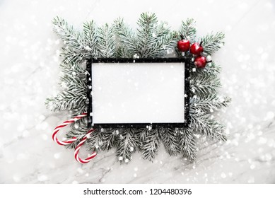 Christmas background with xmas tree. Merry Сhristmas greeting card. Winter holidays. Happy New Year.