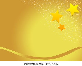 christmas background for your designs with golden stars