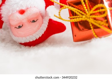 Christmas backgrounds. Christmas decor on snow background.