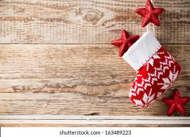 christmas backgrounds christmas decor on wooden stock photo edit