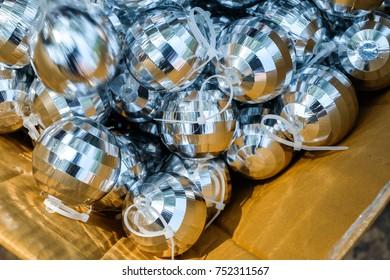 Christmas ball in Brown Box  / Christmas decoration