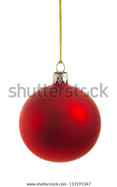 christmas ball with clipping path, vector file available