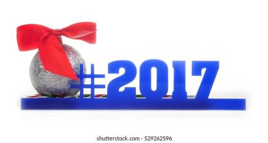Christmas ball and the hashtag 2017