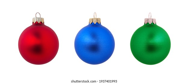 christmas ball isolated on a white