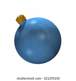 Christmas ball - isolated on white background