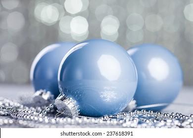 Christmas ball on shiny background