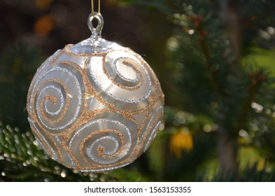 Christmas ball on the tree - Shutterstock ID 1563153355
