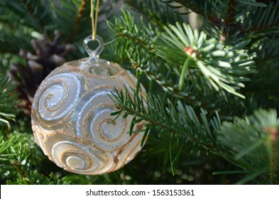 Christmas ball on the tree - Shutterstock ID 1563153361