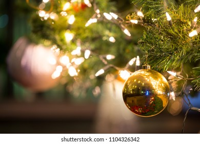 Christmas ball on the tree for decoration