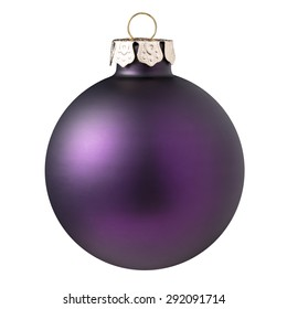 Christmas ball - Purple Christmas ball isolated on white background.