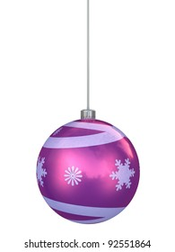 Christmas ball shape decorations render (isolated on white and clipping path)