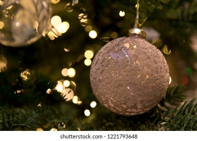 Christmas ball in a tree