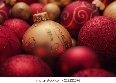 Christmas balls background.