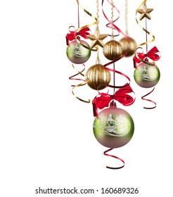 Christmas balls , christmas background. Christmas concept