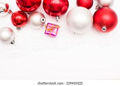 Christmas balls and gift