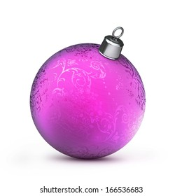 Christmas balls Isolated on white background High resolution 3d render