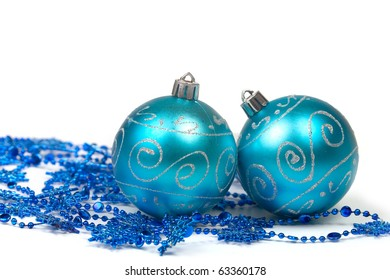Christmas balls isolated on a white background