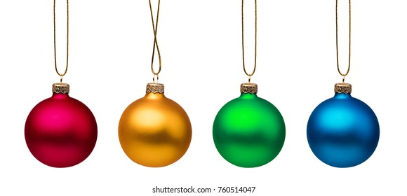 christmas balls, isolated on white background