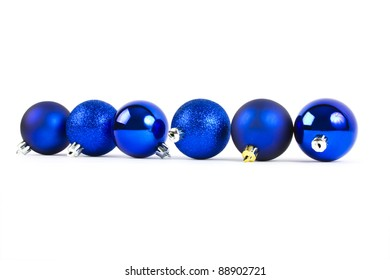 christmas balls isolated on a white