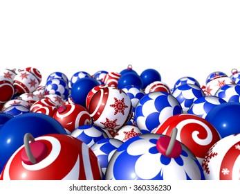 Christmas balls stacked