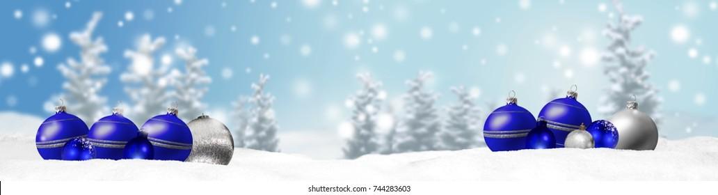 christmas banner panorama background