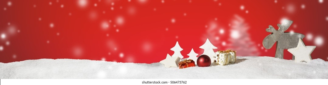 Christmas banner panorama header background