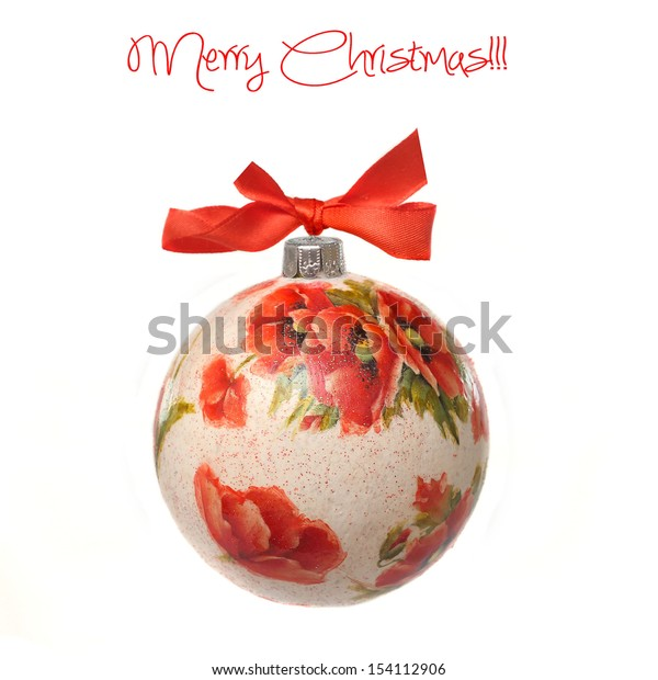 Christmas bauble made by decoupage