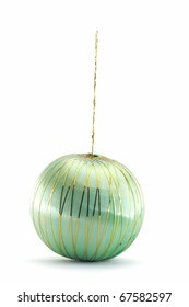Christmas bauble on white background