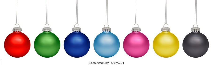 Christmas baubles isolated on white background. RGB+CMYK