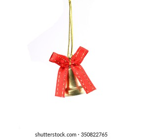 Christmas bell on isolated background.