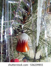 Christmas bell on Christmas tree