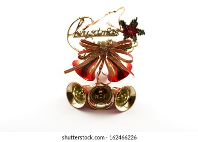 Christmas bell on white background