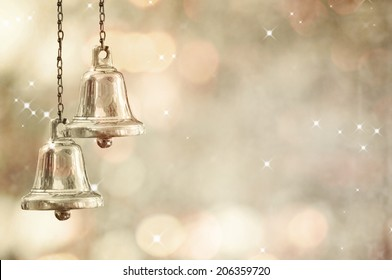 Christmas bells against defocused background