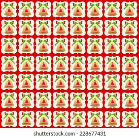 Christmas bells wallpaper red background