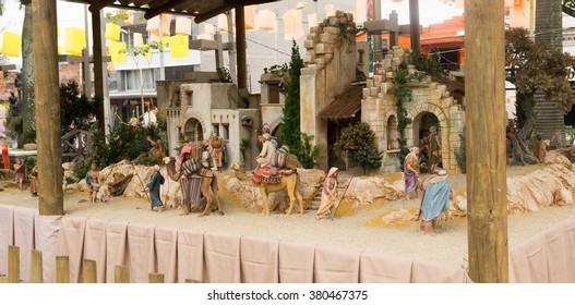 Christmas - birth of Jesus Christ toy scenery in Latin America