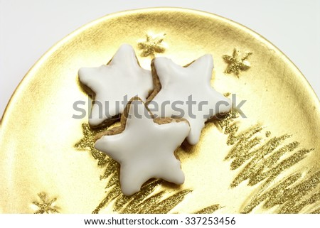 Christmas Biscuits Cinnamon Stars On Golden Stock Photo Edit Now