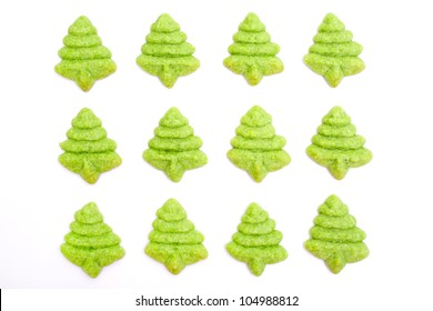 Christmas biscuits isolated on white background
