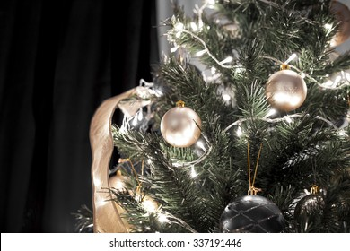 Christmas black tree decoration