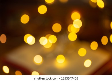 christmas blur made of orange light