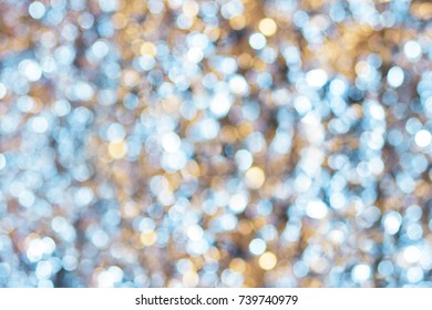 Christmas Boke. Abstract Photography, dreamy sparkling blue and yellow light boke. High resolution photograph suitable for print or web use.