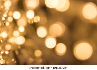 Christmas bokeh lights refocused blurred background, Abstract texture.