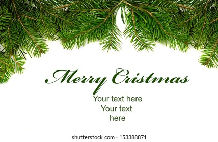 Christmas border card with space for your text