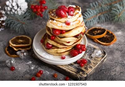 Christmas Breakfast Pancakes.