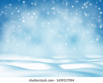 Christmas bright background. Winter Christmas background for design and greeting cards. Winter landscape.