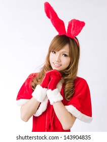 Christmas bunny  girl japanese style