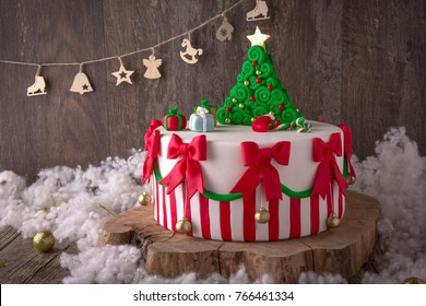 Excellent Christmas Cake Images Stock Photos Vectors Shutterstock Personalised Birthday Cards Veneteletsinfo